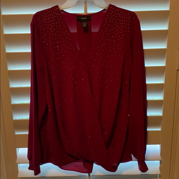 Alfani Tops - Women's alfani long sleeved blouse xl extra large